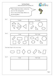 best solutions of sorting shapes worksheets also format