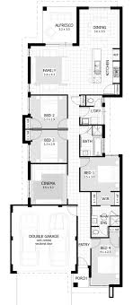 long house floor plans 10 metre wide home designs celebration homes