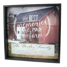 personalized christian gifts personalized shadow box the best memories are made on the farm