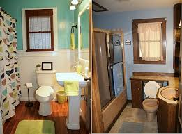Bathroom Makeover Ideas Colors Before And After Small Bathroom Makeovers Big On Style Small