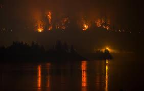 Wildfire Columbia Gorge Oregon by Heartbreak In Oregon Wildfire Scars Beloved Columbia Gorge Katu