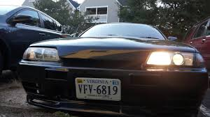 nissan skyline xenon lights fixing the headlight issue in my skyline part 1 youtube