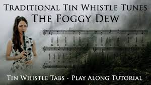 traditional tunes the foggy dew tin whistle tutorial play