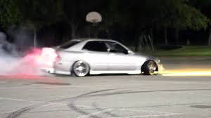 slammed lexus is300 is300 burning rubber youtube