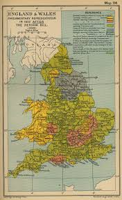 Map Of Wales England by Map Of England And Wales After Reform Bill 1832