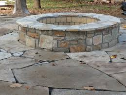 Flagstone Firepit Stick Landscape Traditional With Flagstone Pit And