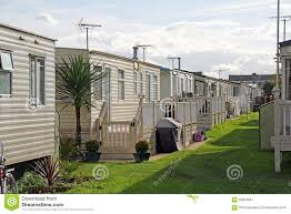 luxury caravan park stock photo image 59904281