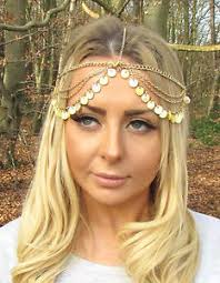 chain headband yellow gold sea shell headpiece mermaid crown boho chain hair