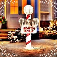 christmas yard peppermint candy pole pre lit sign christmas yard