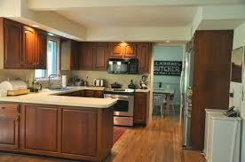 Large Kitchen With Island L Shaped Small Kitchen With All Wooden Based Furniture Large Size