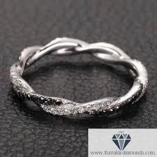 braided band 14k gold braided white black diamond pave wedding band