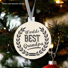 Grandparent Christmas Ornaments Personalized Christmas Ornament Grandpa Worlds Best Pregnancy
