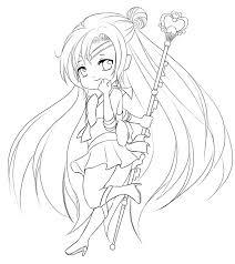 anime chibi coloring pages coloringstar