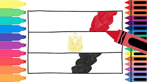 coloring pages of egypt flag how to draw egypt flag drawing the egyptian flag coloring pages