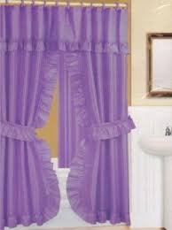Purple And Gold Shower Curtain Double Swag Shower Curtain Foter