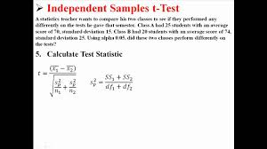Independent by Independent Samples T Test Youtube