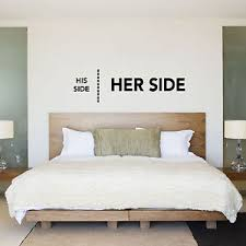 His And Her Wedding Gifts His Side Her Side His U0026 Hers Bedroom Wall Sticker Decal