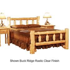Wood Log Bed Frame Top Log Furniture Buck Ridge Kentucky Cedar Log Bed