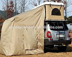 Camping Tent Awning Hard Shell Fiberglass 4x4 Small Camping Trailer Tent For Family
