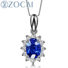 sapphire chain necklace images Zocai 18k white gold 0 5 ct certified sri lanka sapphire with 0 2 jpg
