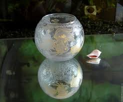 Goldfish Bowl Vase Buy Vase Glass With Painting