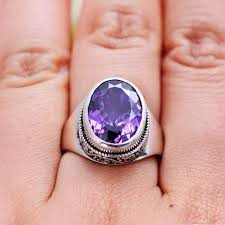 natural amethyst rings images Gqtorch natural purple amethyst rings for women 925 sterling jpg