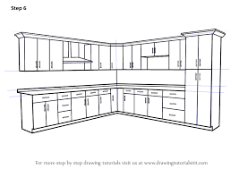 Learn How To Draw Kitchen Cabinets Furniture Step By Step - Draw kitchen cabinets