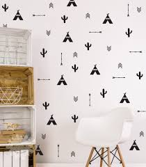 Eiffel Tower Wall Decals Tee Cactus Arrow Mixed Wall Decal Tee Wall Decals