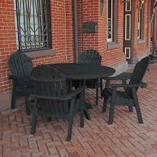Highwood Hamilton Folding U0026 Reclining Hamilton 5pc Round Dining Set Outdoor Furniture Patio Furniture