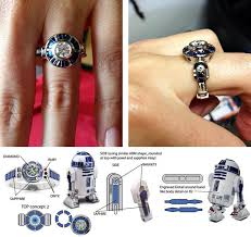 r2d2 wedding ring wars custom r2 d2 engagement ring marriage