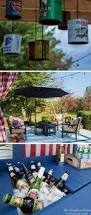 Homemade Outdoor Chandelier by Deck U0026 Cover Backyard Deck Ideas U0026 Our Deck Makeover Reveal