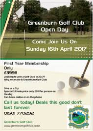 greenburn golf club open day 16th april 2017