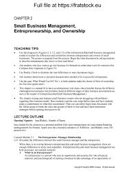 solutions manual small business management entrepreneurship beyond