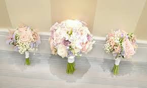 bridesmaid bouquet pink lilac white stephanotis orchids bridal bouquet astilbe
