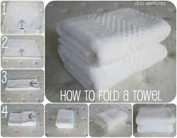 How To Wash Colored Towels - how to fold a towel duo ventures clean organized pinterest