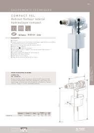 Flotteur Wc Suspendu by Robinet Flotteur Compact 95 L Siamp