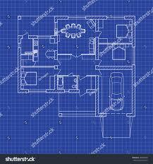 blueprint floor plan modern apartment on stock vector 495848968