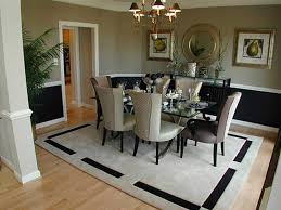 Area Rugs In Dining Rooms Dining Room Great Looking Dining Room Design With Grey Leather