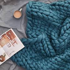 diy blanket diy knit kit giant chunky blanket by wool couture
