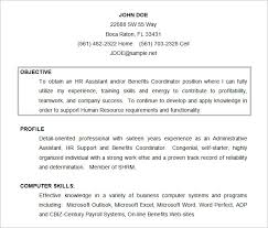 Sample Resume In Doc Format Sample Resume Objectives 14 Free Download Admin Resume Objective