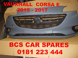 vauxhall corsa 2017 vauxhall corsa e front bumper complete inc grills new 2015 2016