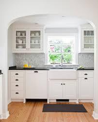 chevron backsplash kitchen traditional with red oak flooring