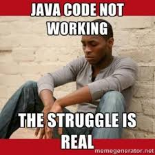 Not Working Meme - java code not working the struggle is real programming