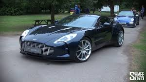 matte black aston martin dark blue aston martin one 77 startup and driving youtube