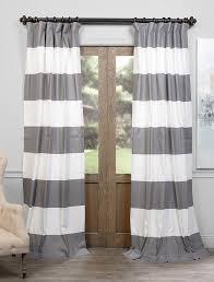 Slate Grey Curtains Slate Grey White Horizontal Stripe Curtain Home