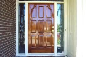 Refinish Exterior Door Stained Front Doors Exterior Leaded Glass Doors Black Stained