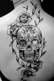 skull roses flowers back design for tattoomagz