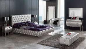 king size modern bedroom sets silver tufted leatherette 9pc king size modern bedroom set