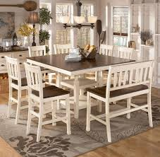 Awesome Bench Dining Room Table Photos Home Design Ideas - Ashley furniture dining table bench