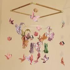 suspension chambre enfants mobile bebe bois suspension chambre enfant bébé en origami animaux